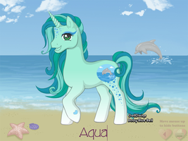 Adoptable Pony Aqua by TheSilentChloey