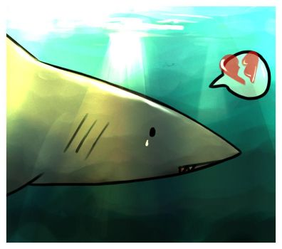 Lonely Shark by Aquafeles
