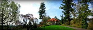Pittock Mansion Panorama by biffbouse