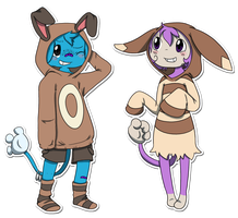AT: Sentret and Furret...?! by Princess-Hanners
