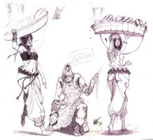 Character sketches cont.23-25 by kasai