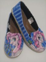 Pinkie Pie Custom Shoes by Acrylicolt