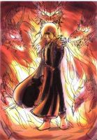 Raistlin en el portal by black3