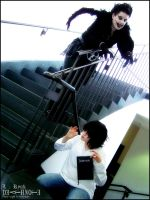Death Note: L and Ryuk by Maru-Light