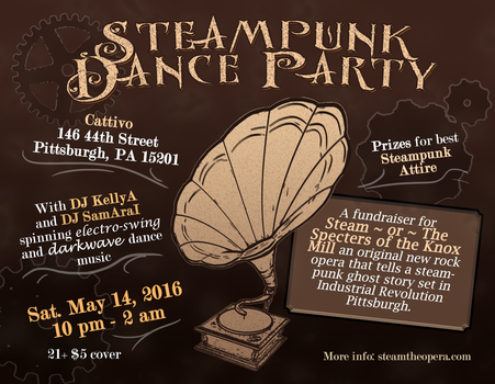 Steampunk Dance Flyer by Lepus-Marj
