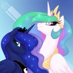 Princess Portraits: Celestia and Luna by onnanoko