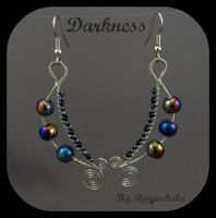 Darkness earrings by ringnebula