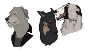 Some dogs by J-Harper