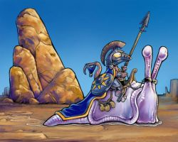 The Slug Knight by ursulav