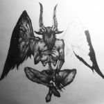 Incubus (Silent Hill) Stippling WIP 9 by razorthecurse