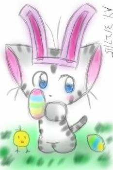 Easter Kitty doodle by c-force