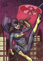 Batgirl -PINK- sketch card by silentsketcher