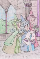 Fauna, Flora, and Merryweather by DemonaHeartBreak
