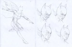 Batgirl prelim pencils by gattadonna