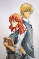 Rose and Scorpius by saber-kite