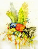 Water color Tattoo Painted Bunting by Underworld666Chaos