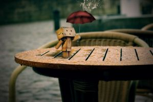 Danbo rain by TheMironist