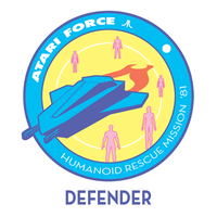 Atari Force Mission Patch 01 - Defender by AbelMvada