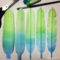 paper feathers by onlyboy9169