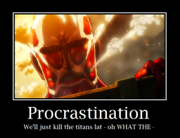 Shingeki no Kyojin: Procrastination by FrozenClaws