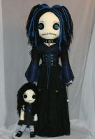 Goth Girl Rag Doll 0953 by Zosomoto