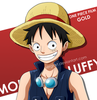 One Piece Film Gold - Luffy by SergiART