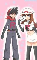 Luckyshipping Team Rocket Cosplay (Commission) by MashiroSaito
