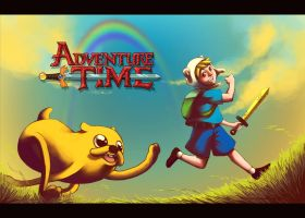 Adventure Time with Finn and Jake by MatsuoAmon