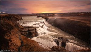 Gullfoss gold circle waterfall iceland by Relderson
