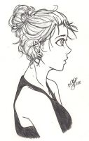 Side View Her by CrystelLuna