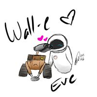 Wall-e and Eve by Water-light-demon