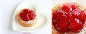 Breton cake with strawberries by LilyBrilliant