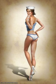 Whitney pin-up by henning