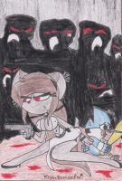 Idea: Big sister littler brother..and zombies? o3o by Krys-DamianiFoo