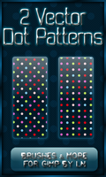 2 GIMP Dot Vector Patterns by el-L-eN