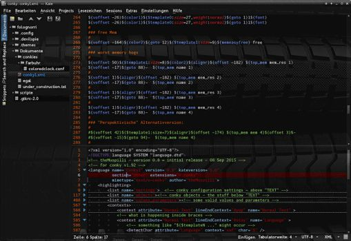 Conky Syntax Highlighting For Kate by theMuspilli