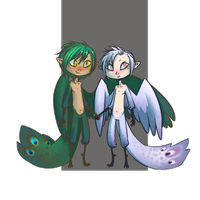 Adoptable Peacock brothers by Morthern