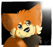 Red eared red panda by xMarrux