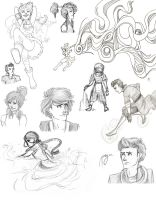 Avatar and Korra Sketch Dump by blindbandit5