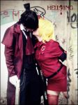 Seras victoria and Alucard kiss by LeydaCosplay