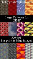Large Patterns for GIMP by kelzygrl