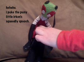 poke the puny invader by exileinvadercat