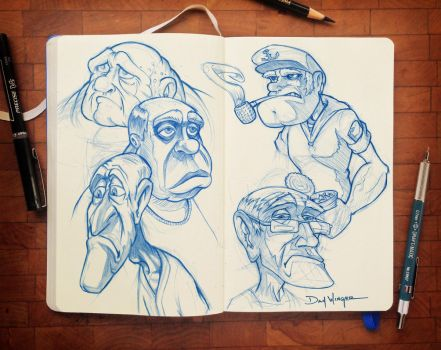 CharacterSketches-03 by WingerDesign