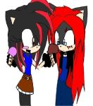 Ice Cream Zero and Aralia by sonicthewolf001