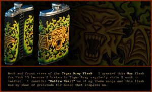 Tiger Army Flask by ElVaqueroMuerto