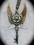Steampunk 4 Wing Star Pendant by Lucky978