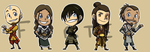Stickers: Avatar The Last Airbender Set 2 by forte-girl7