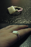 Crafted Pink Beaded Nacre Ring 1 by sampdesigns