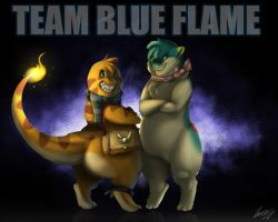 Team blue flame by Quelux