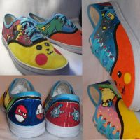 FOR SALE Electric Pokemon Shoes by color-freak1
